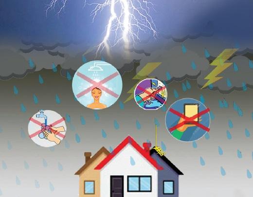Lưu ý để phòng tránh sét đánh trong mùa mưa bão
