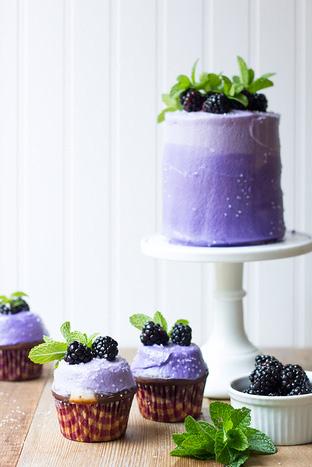 Ngon khó cưỡng với cupcake nho đen