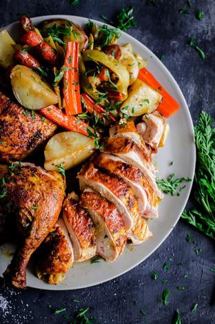 Thịt gà nướng hấp dẫn cho bữa tối