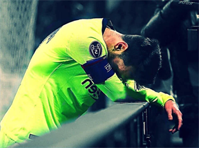 Messi gục ngã