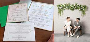 Thiệp cưới đặc biệt của Cường Đô La và Trang Đàm