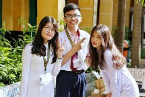Nữ sinh THPT Hùng Vương TPHCM